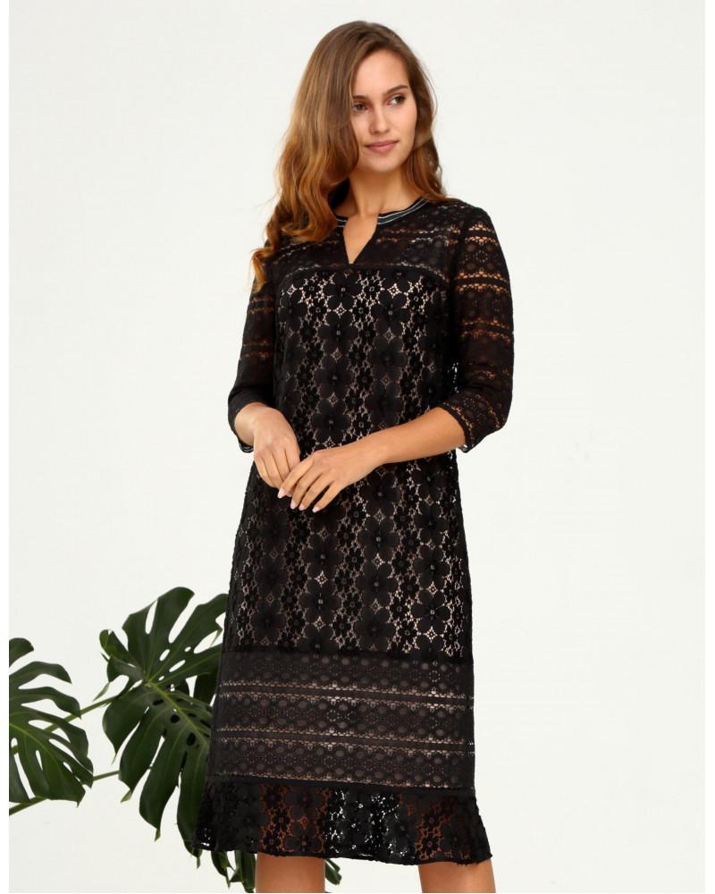 Платье комбинированное кружевное, арт. 51803