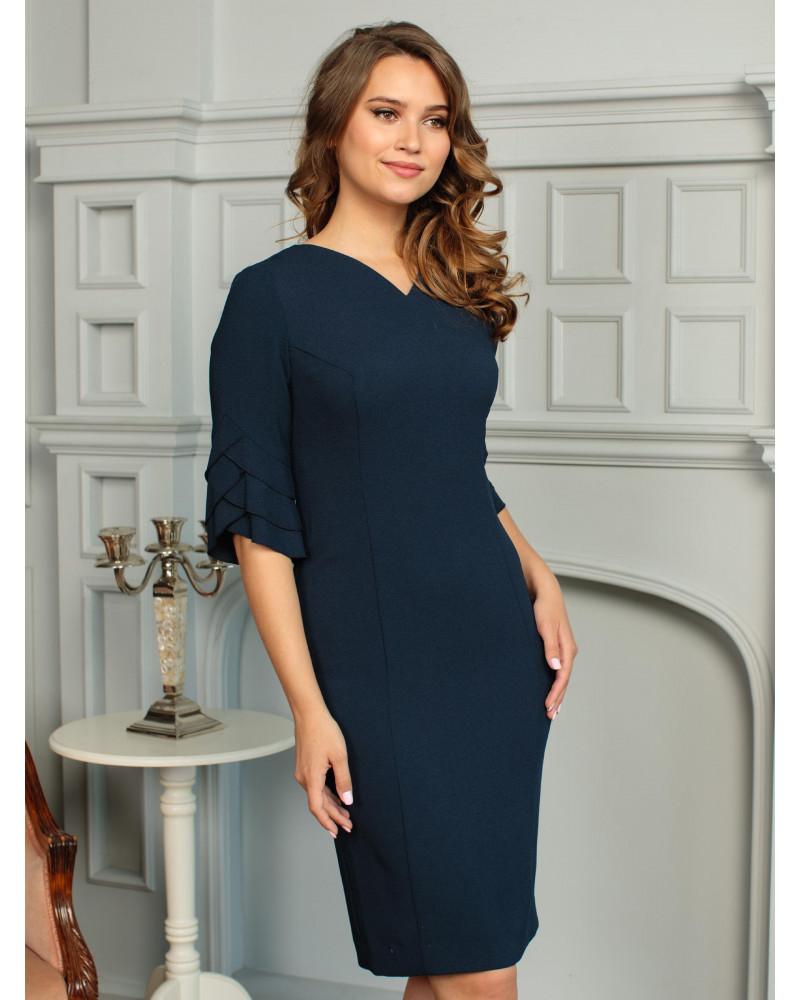 Платье темно-синее, арт. 52145