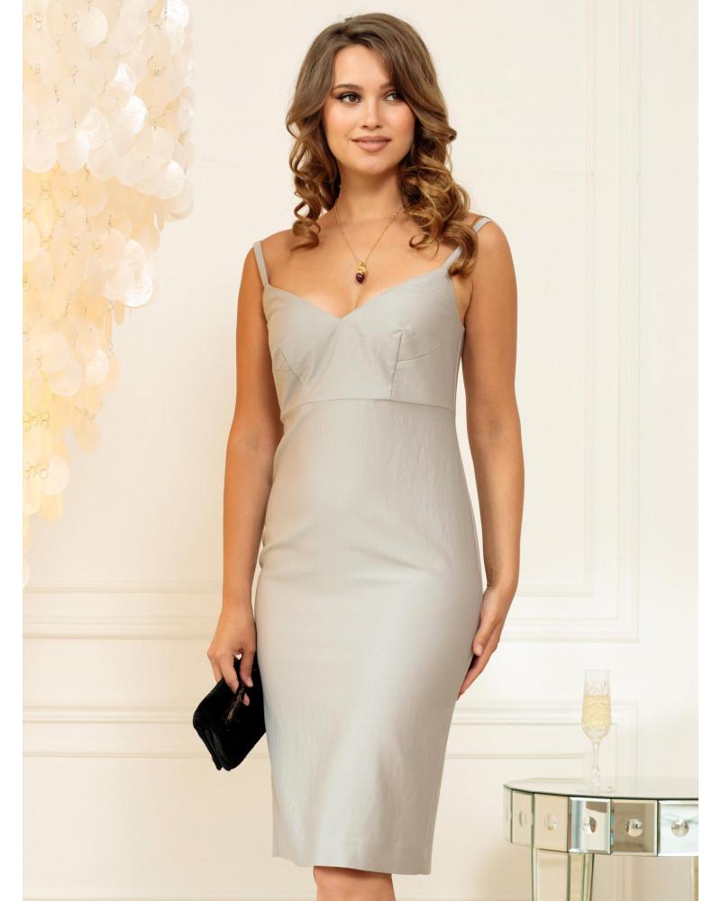 Платье жемчужного цвета, арт. 52214