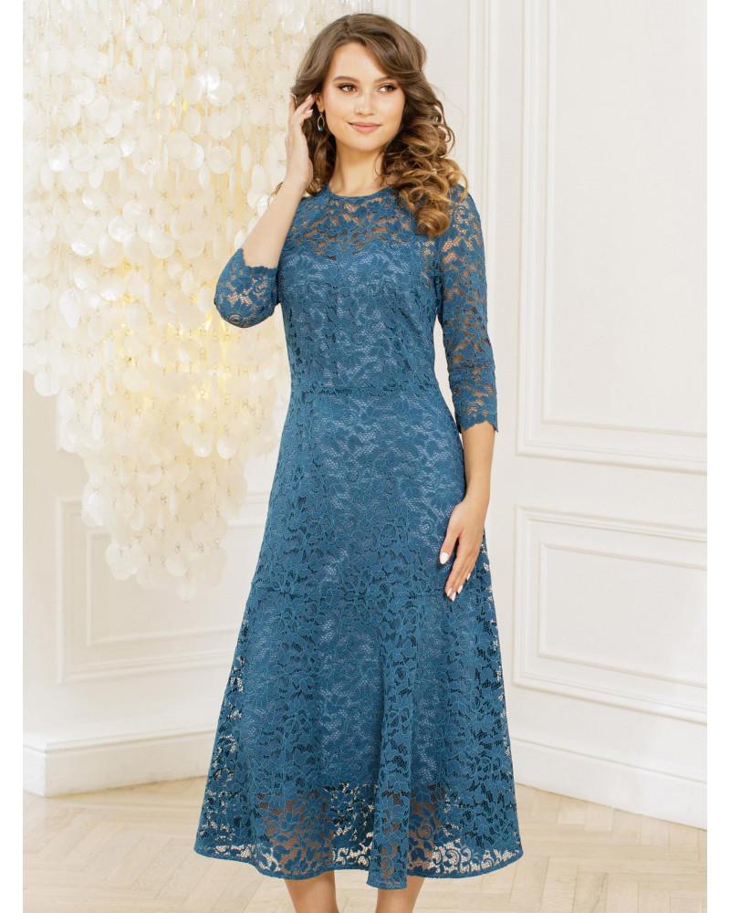 Платье лазурного цвета, арт. 52521