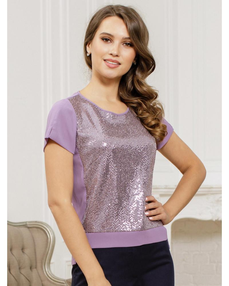 Блуза разноуровневая с пайетками, арт. 62518