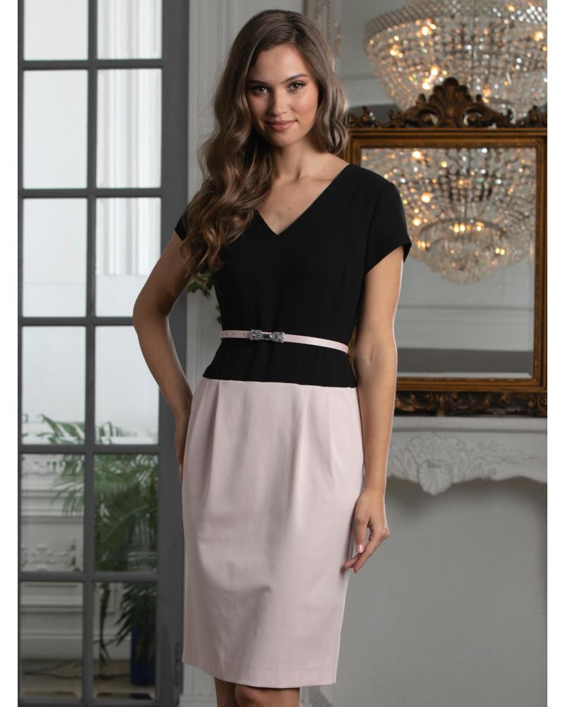 Платье женское комбинированное, арт. 52815