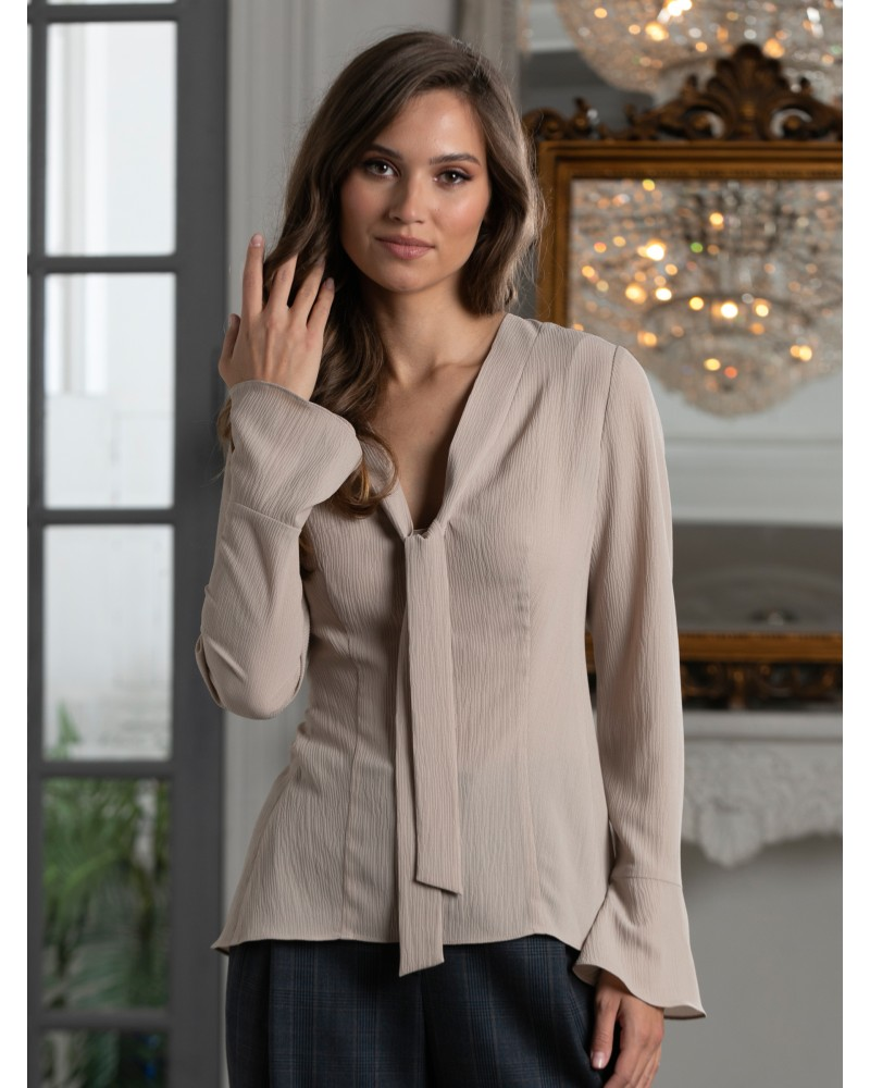 Блуза женская дымчато-бежевая, арт. 62820