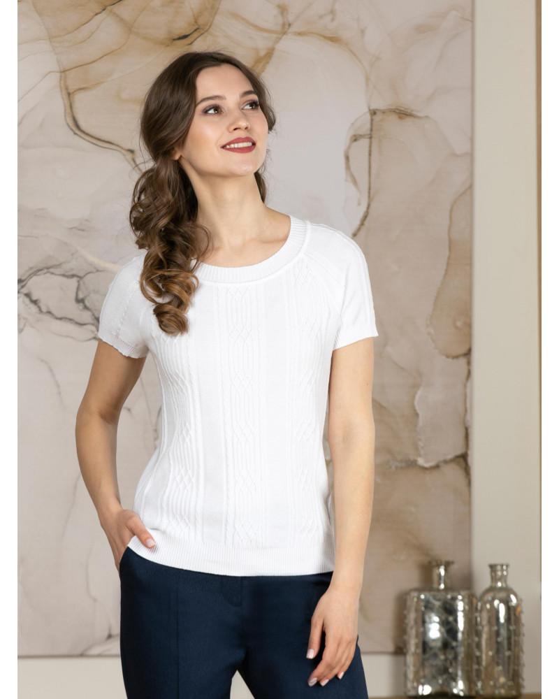 Джемпер белого цвета, арт. 99016