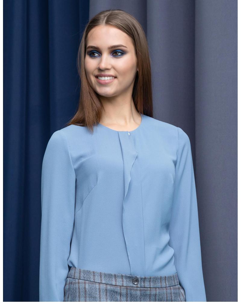Блуза васильково-голубая, арт. 61727