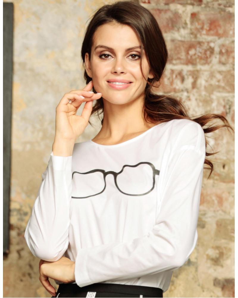Блуза хлопковая белая, арт. 61747