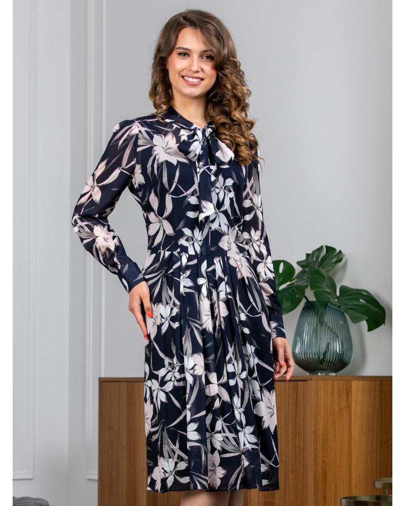 Платье шифоновое принт цветы, арт. 52474