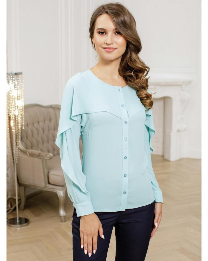 Блуза нежно-мятного цвета, арт. 62405