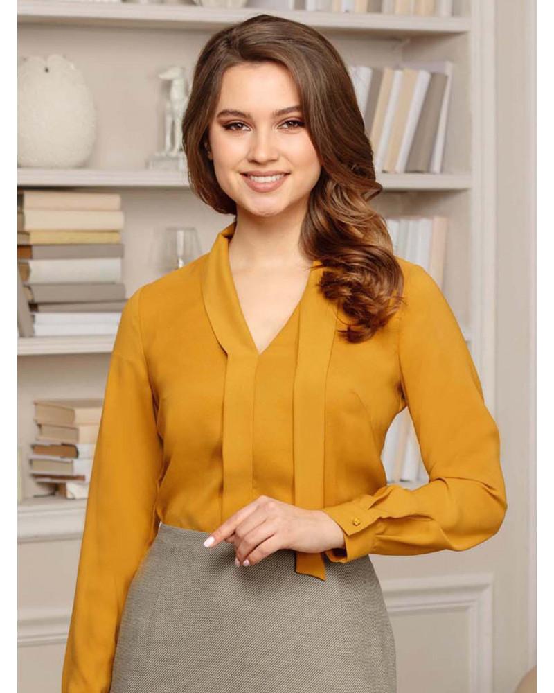 Блуза цвета горчицы, арт. 62444