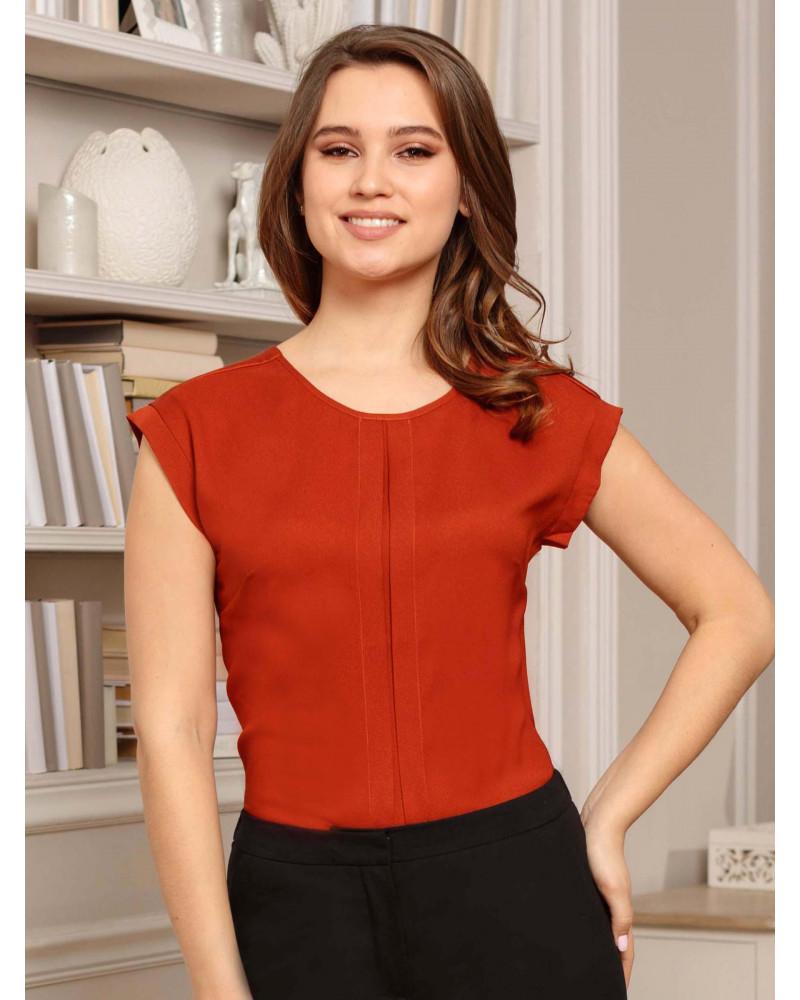 Блуза терракотового цвета, арт. 62460