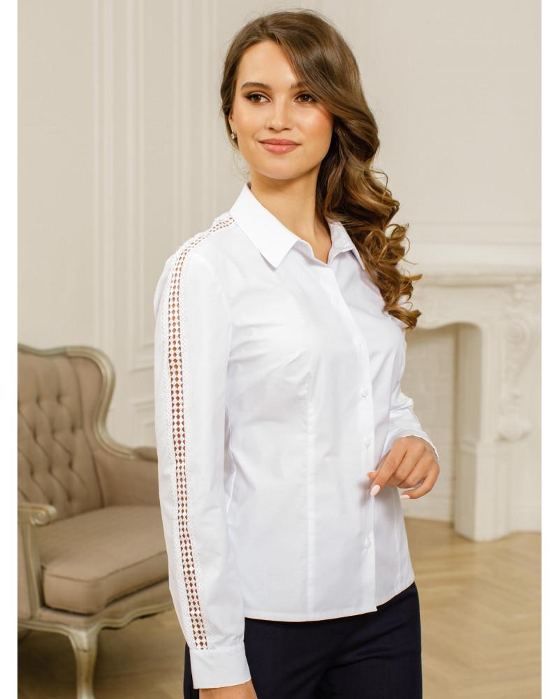 Блуза белая с кружевом, арт. 62490