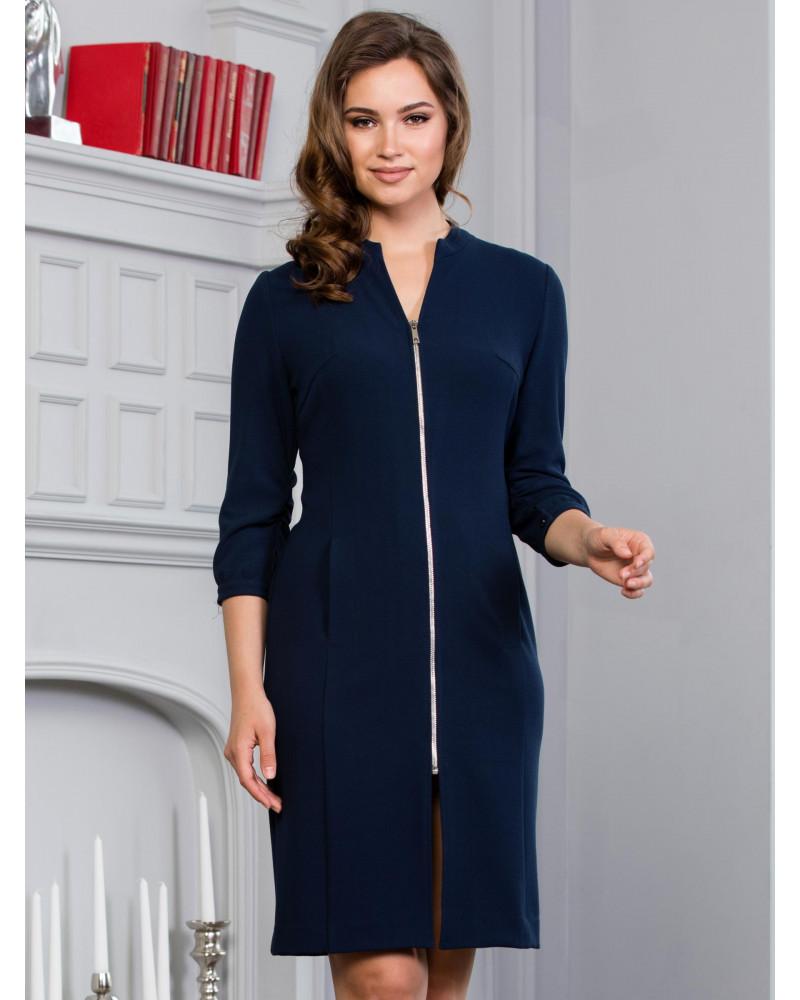 Платье синее на молнии, арт. 52099