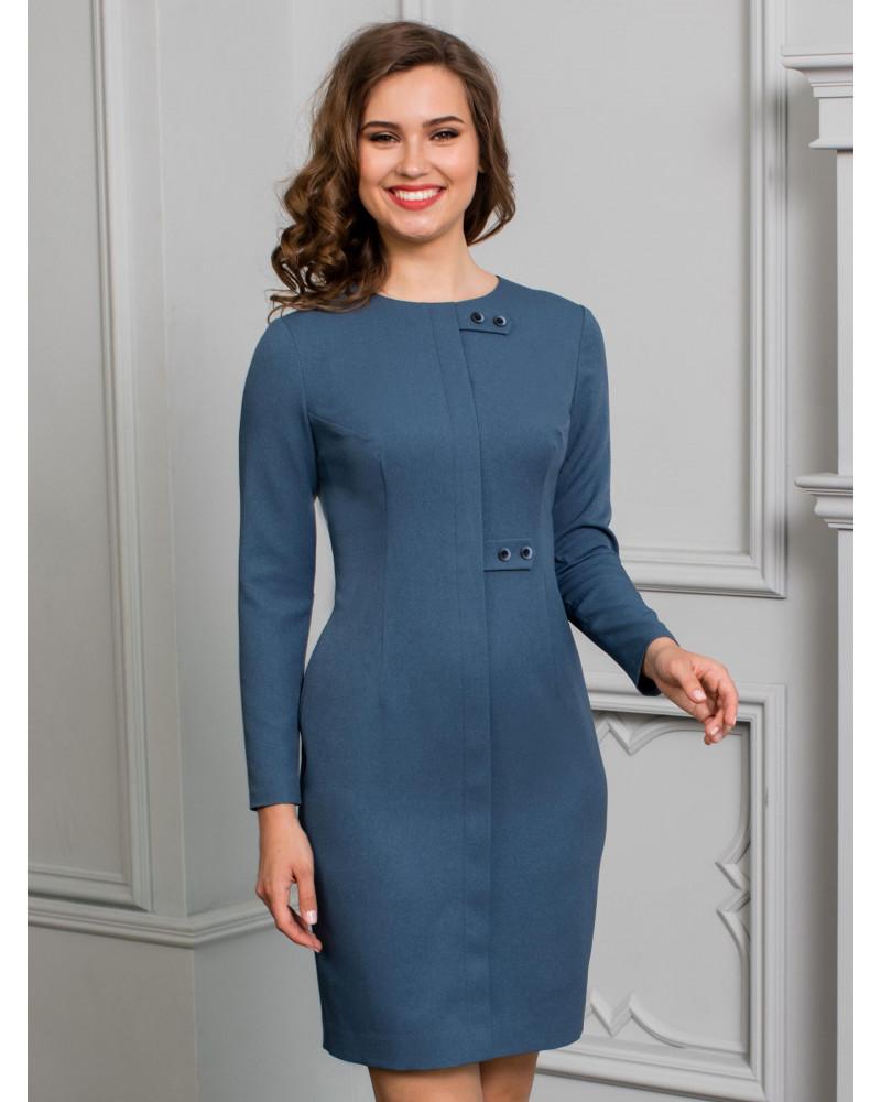 Платье синее с планкой, арт. 52173-7