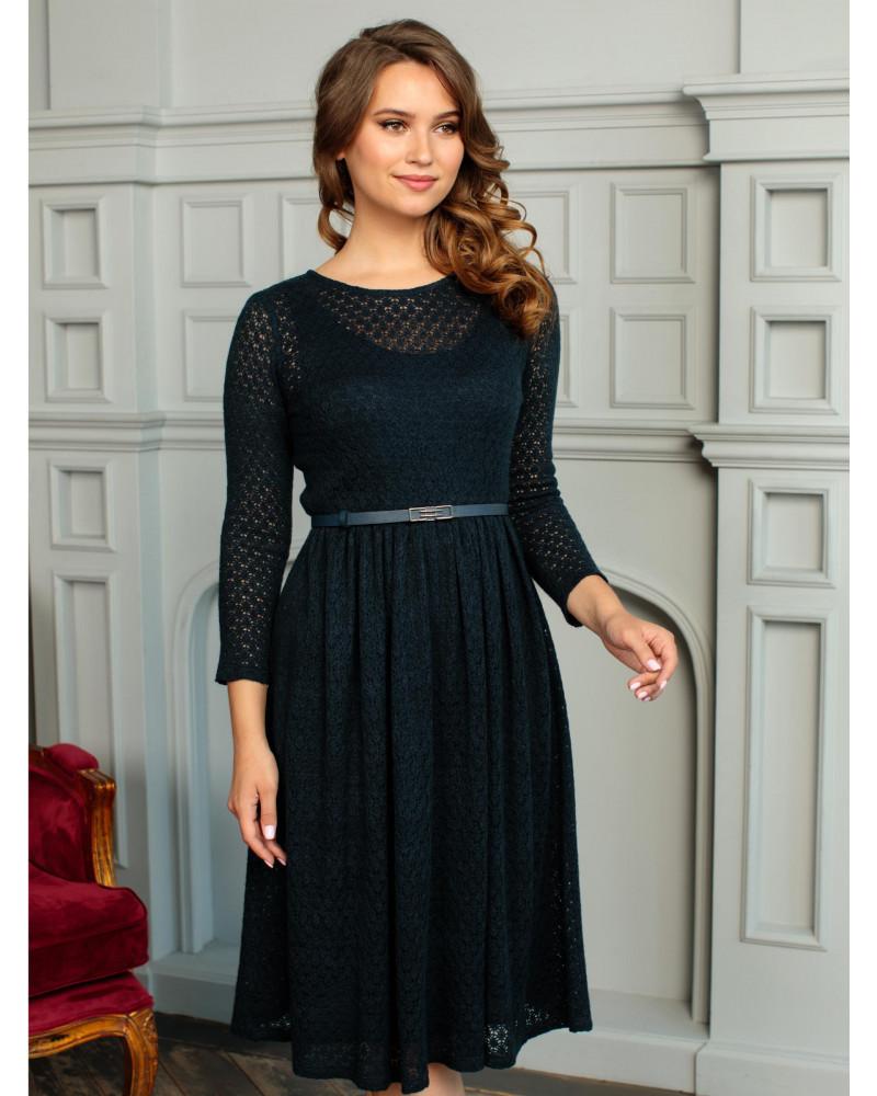 Платье трикотажное темно-синее, арт. 52204