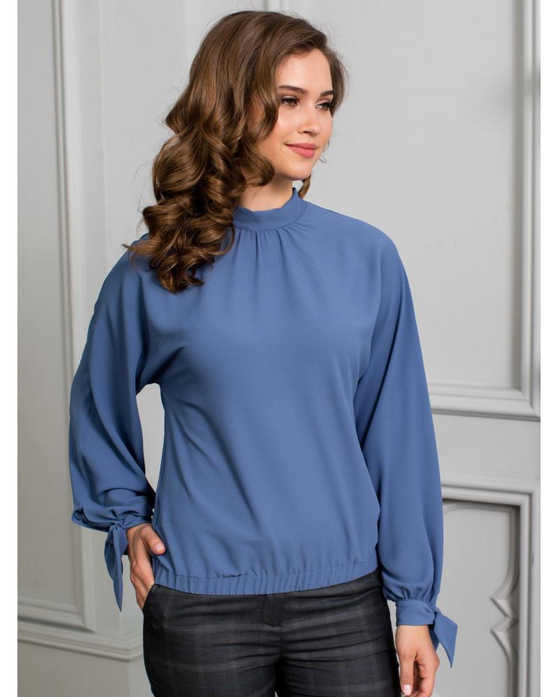 Блуза с манжетами на рукавах, цвет индиго, арт. 62067