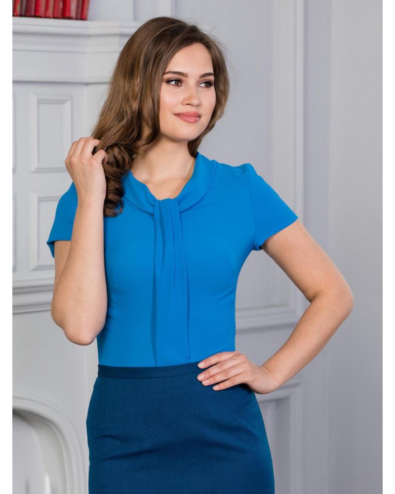 Блуза с коротким рукавом, цвет синий, арт. 62088