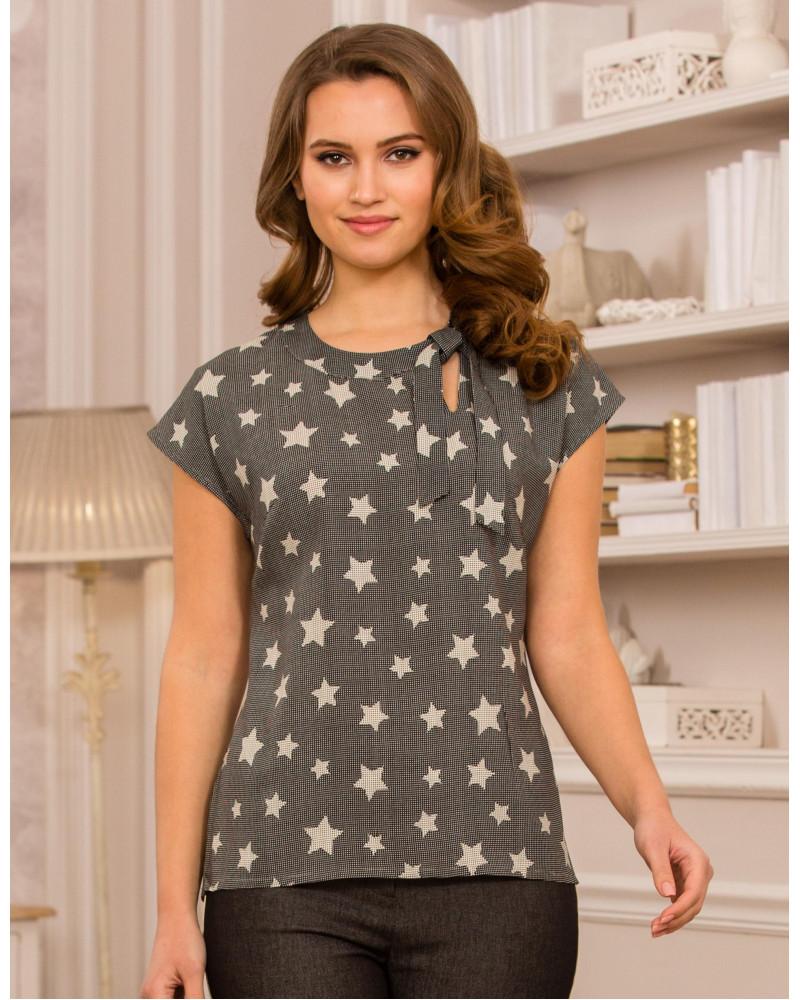 Блуза вискозная звезды, арт. 61824