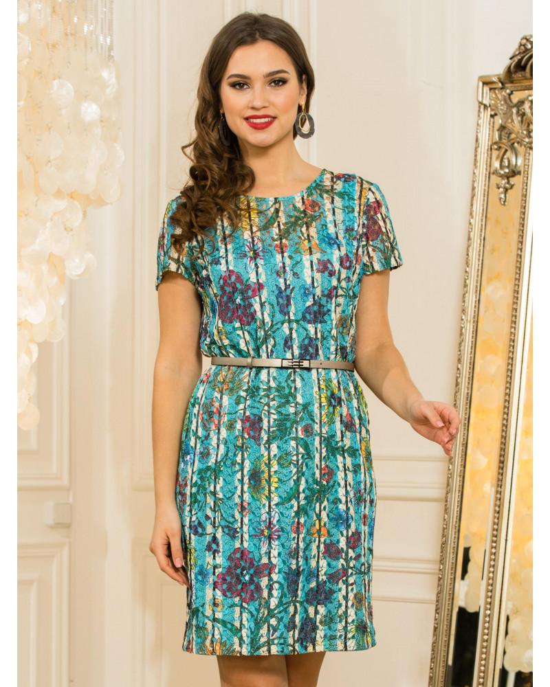 Платье вискозное прямое арт. 52357