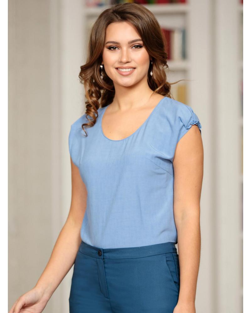 Блуза вискозная фиалкового цвета, арт. 62313