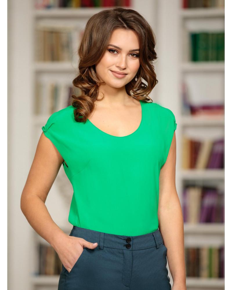 Блуза вискозная, зеленая, арт. 62327