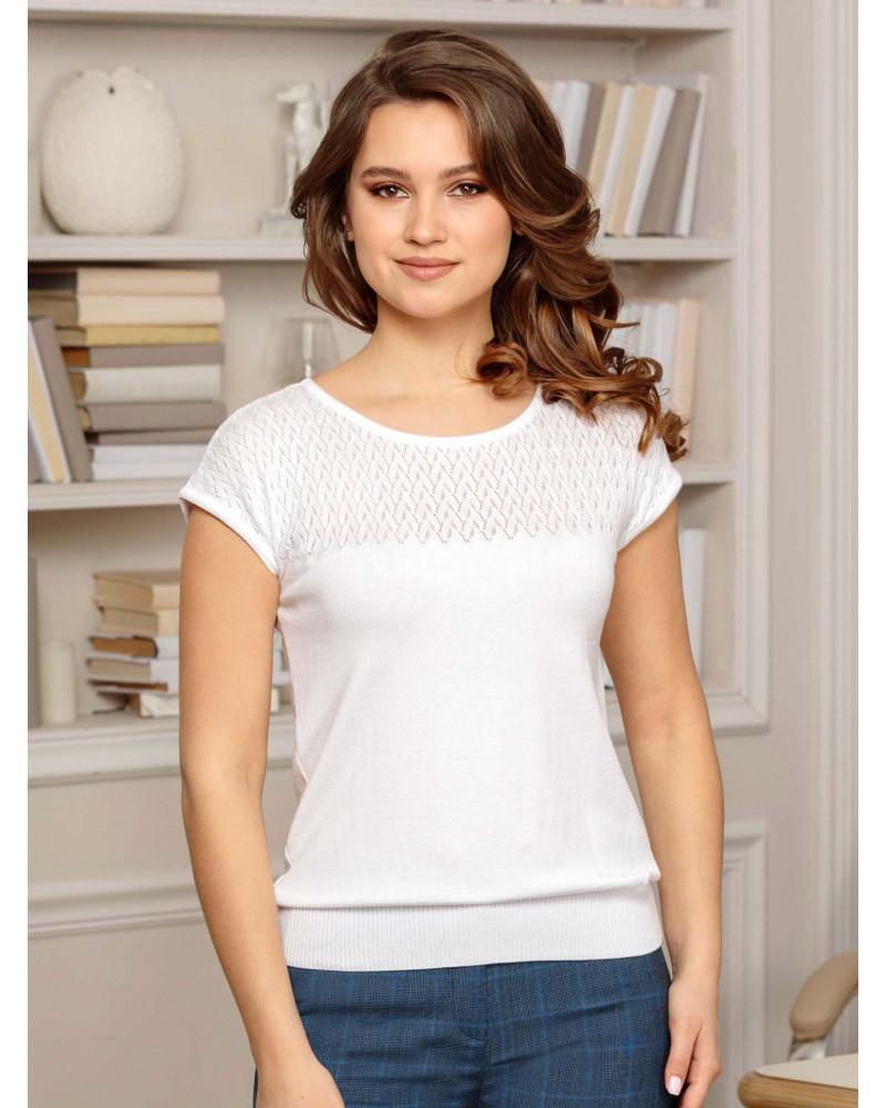 Блуза трикотажная белая, арт. 99001