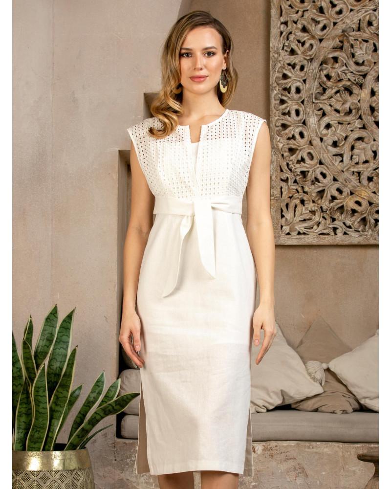 Платье белое прямое, арт. 52576