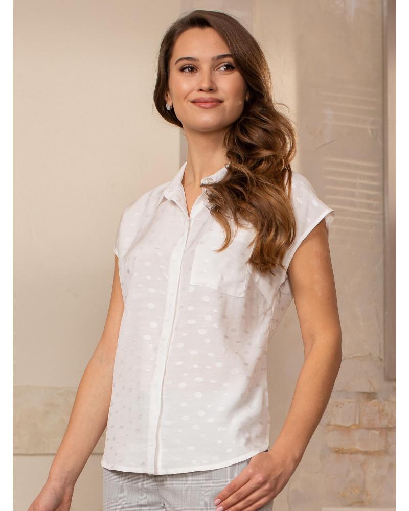 Блуза вискозная белая, арт. 62611